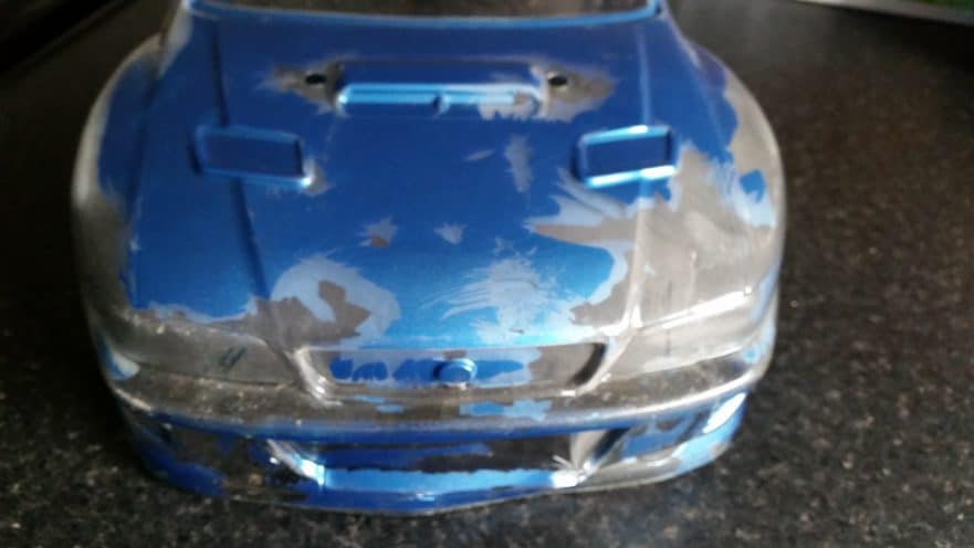 how to remove paint from rc car body